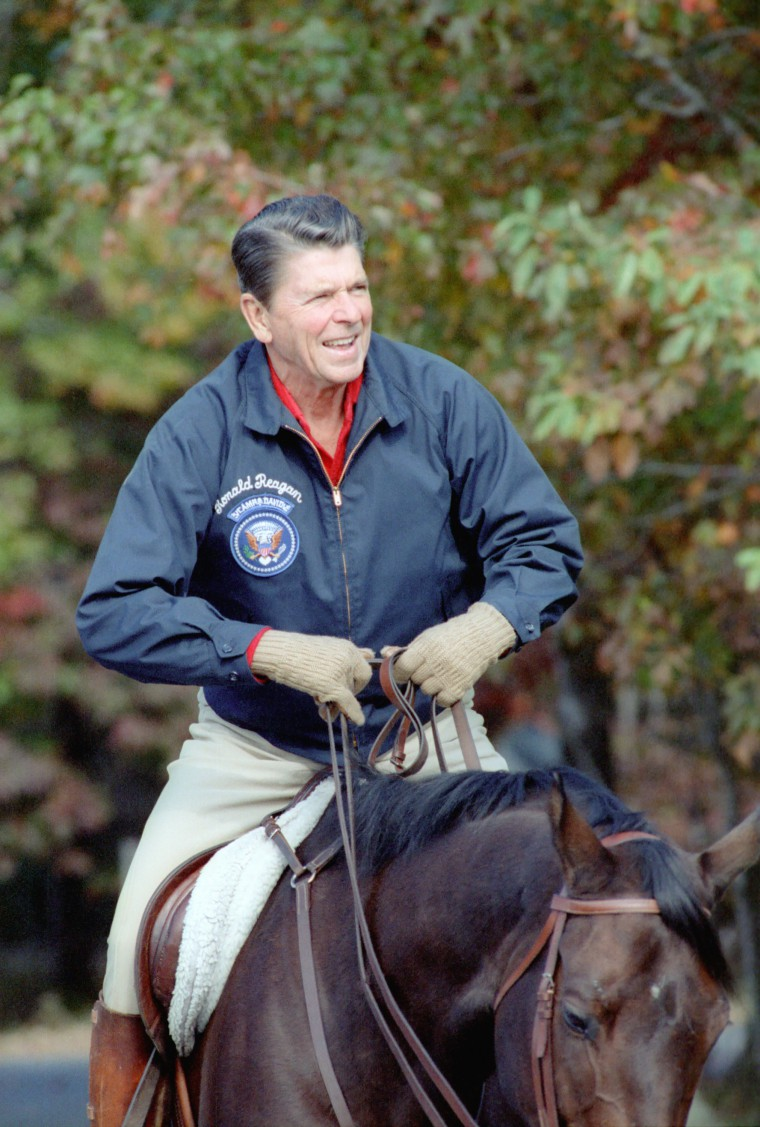 10/10/1981 President Reagan horseback riding at Camp David Maryland. Attached to a blog post by Garrett Scanlon: Where is your Rancho del Cielo?